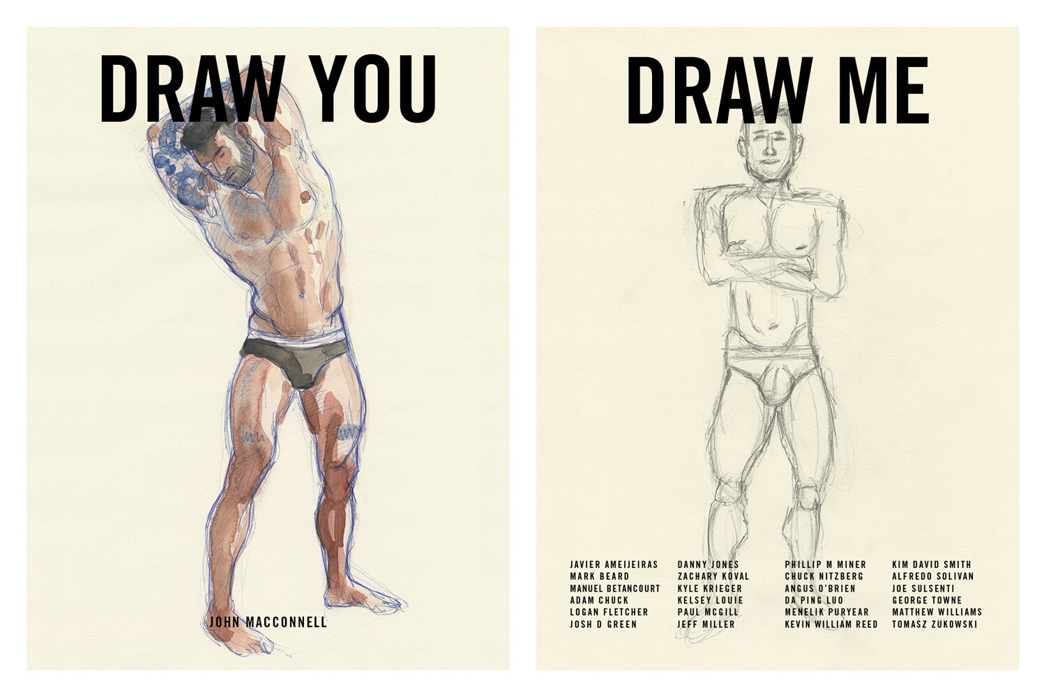 Draw You / Draw Me  is a project between friends. I invited 24 friends to sit for a portrait, and asked them to do a portrait of me.  Buy the book