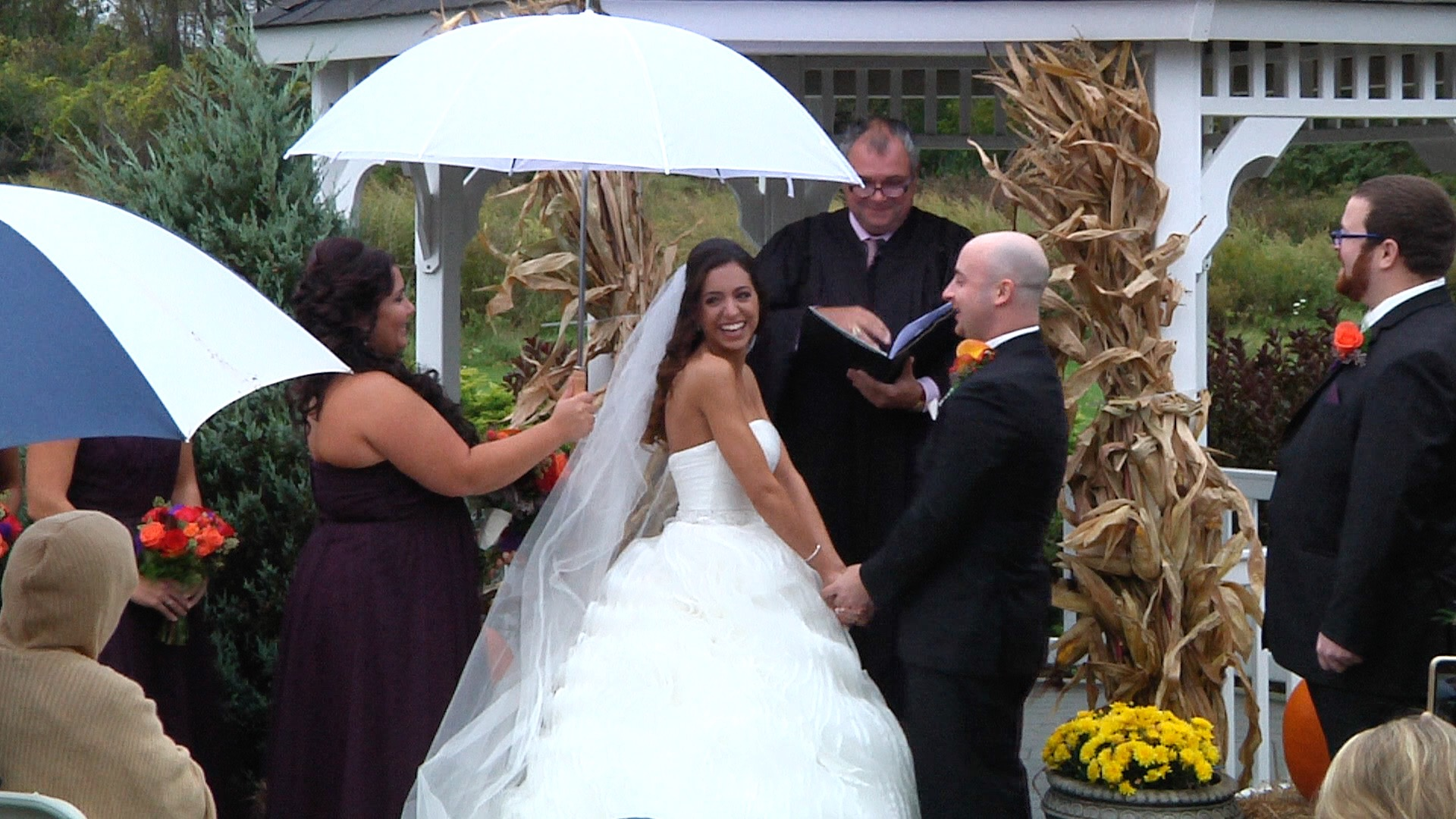 a jpg from their ceremony video... see what I mean!