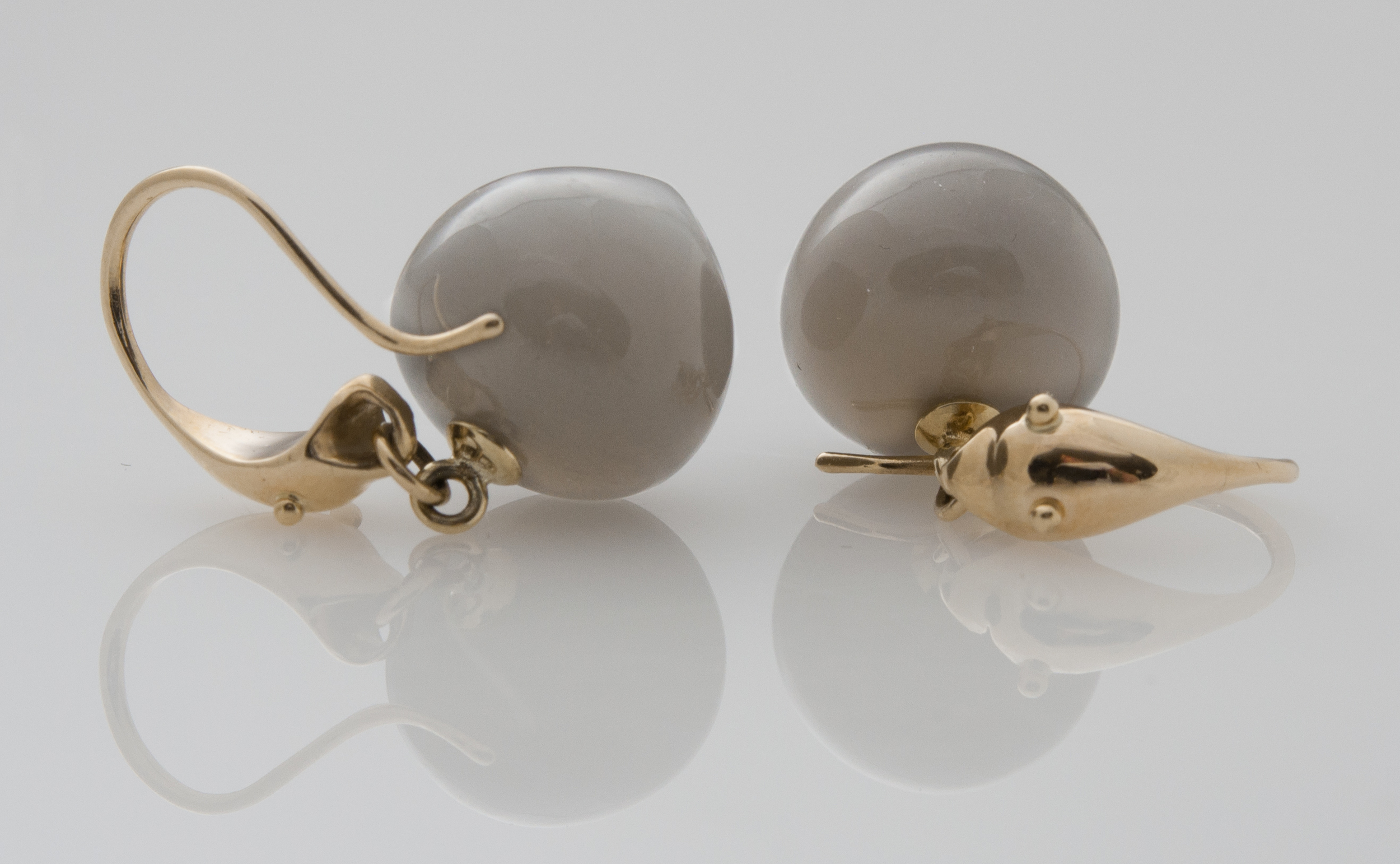 Gladstone cobra moonstone earrings