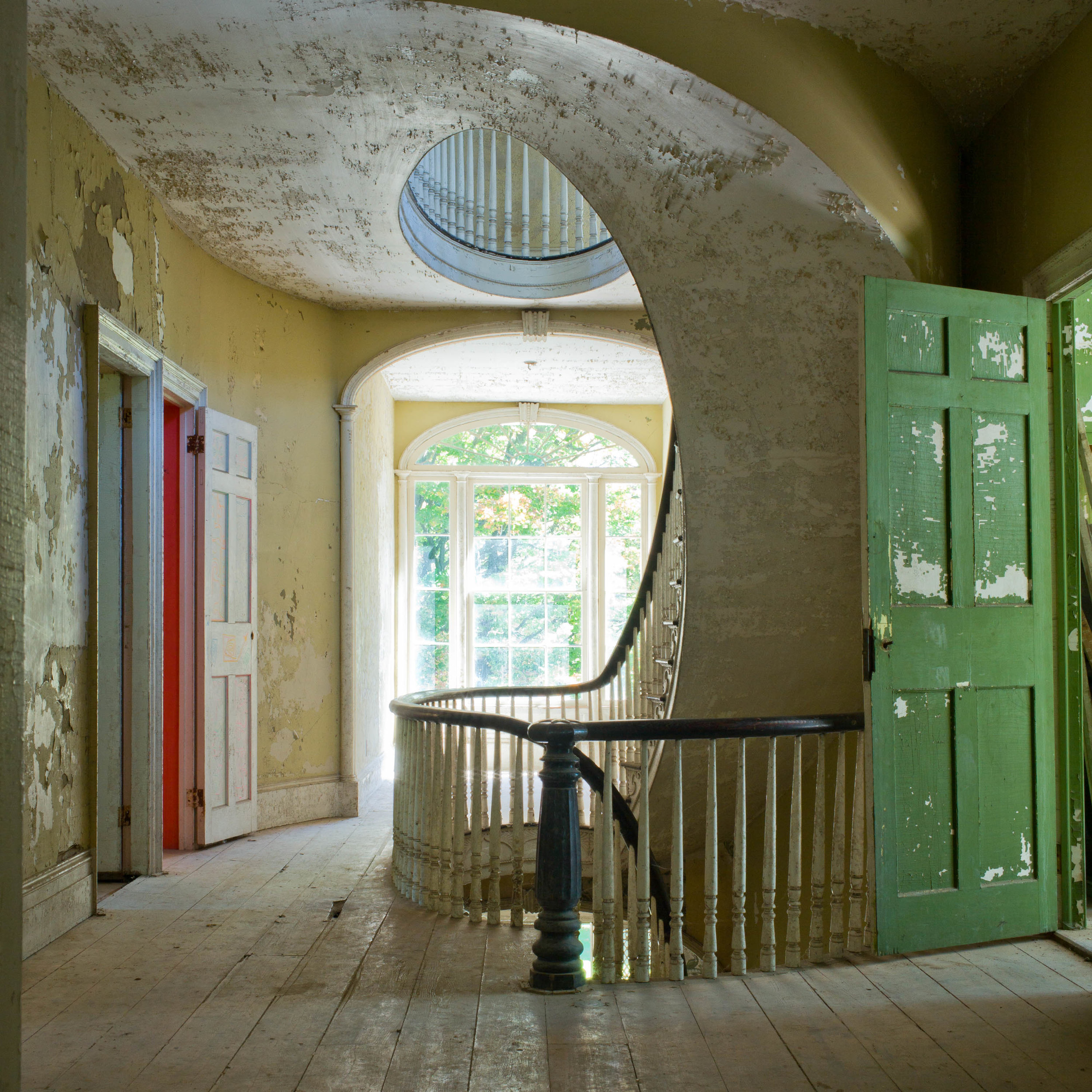 "Green Door, 2013, archival inkjet print, 28.5"" x 28.5"" unframed"