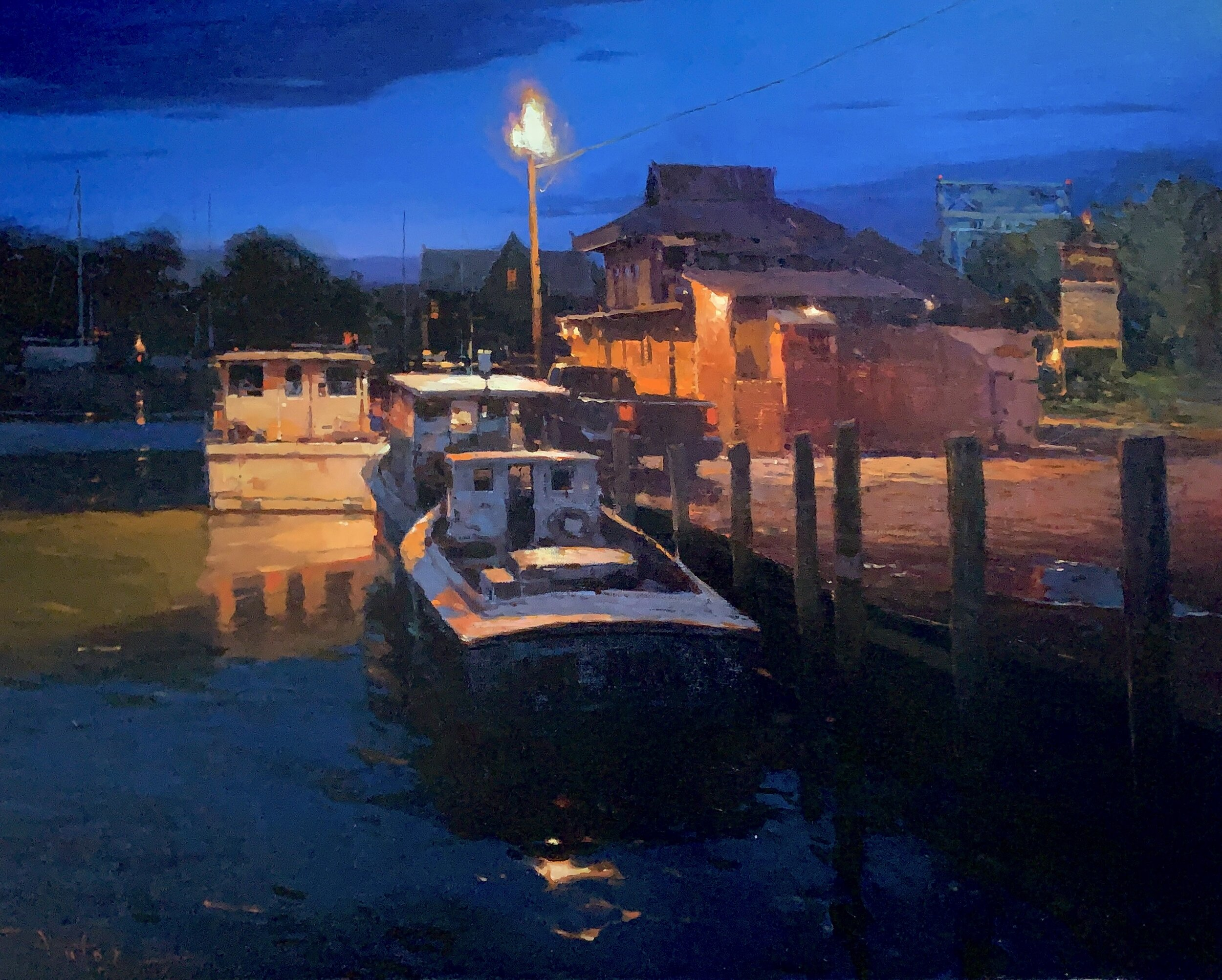 "Tilghman Night, 2016, oil on canvas, 24"" x 30"""