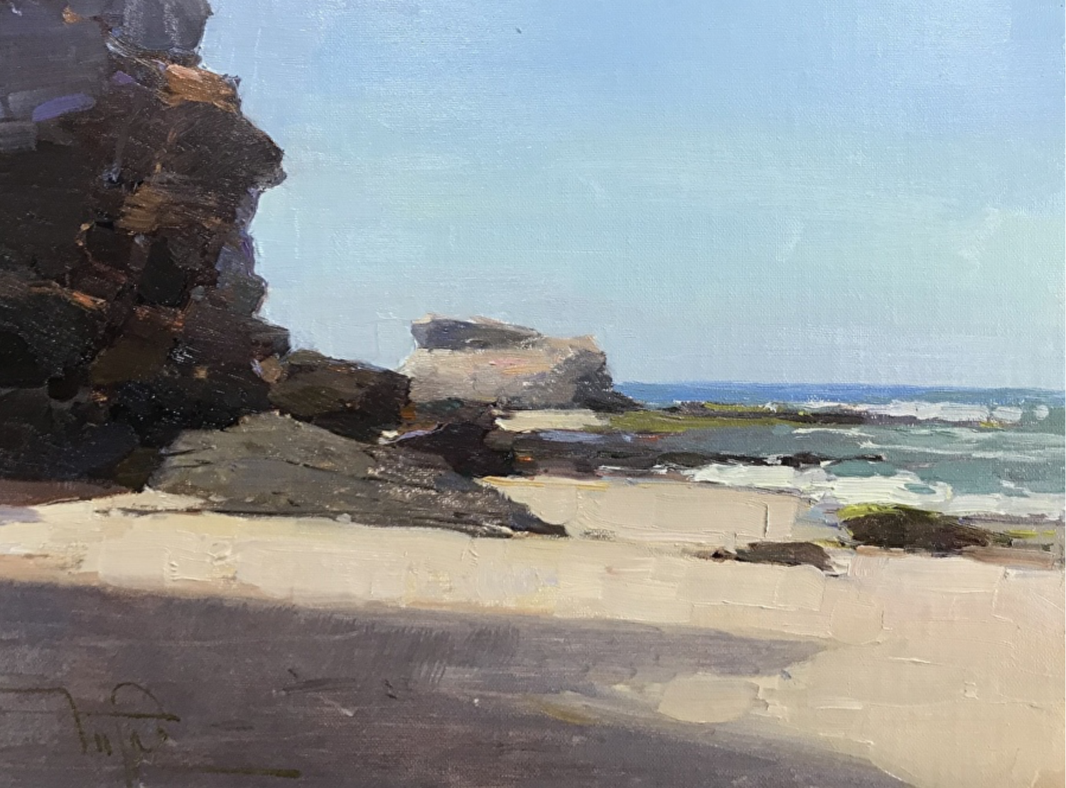 """Aliso Point, 2018, oil on canvas, 9"""" x 12"""""""