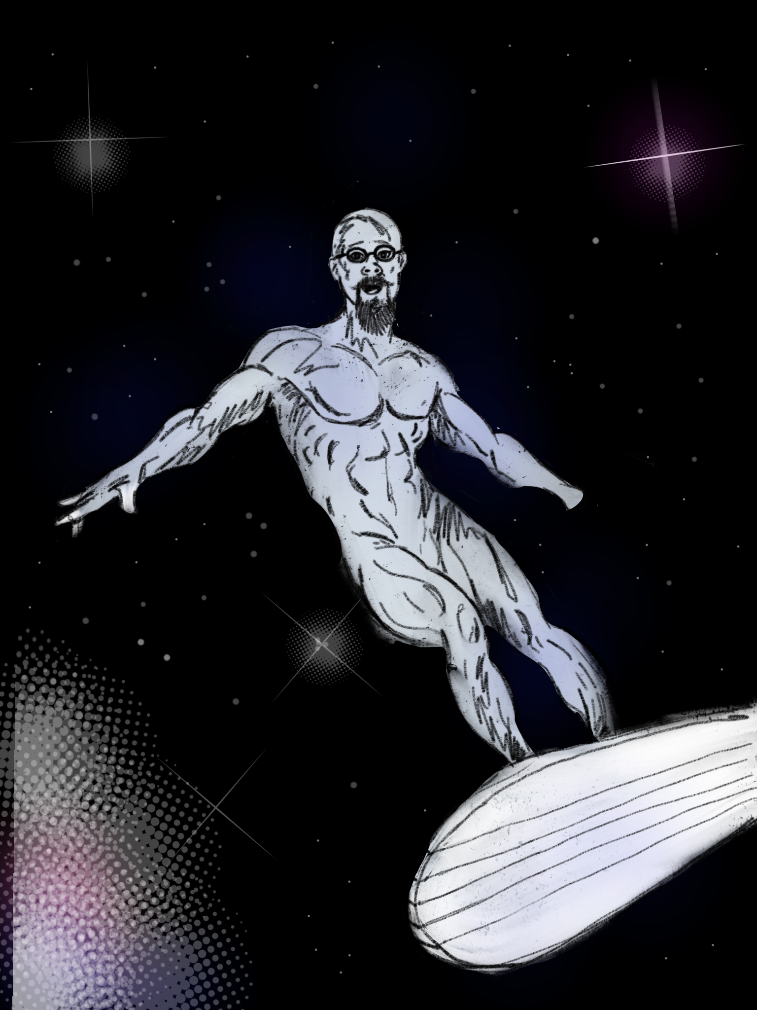 Scott Rogers as The Silver Surfer