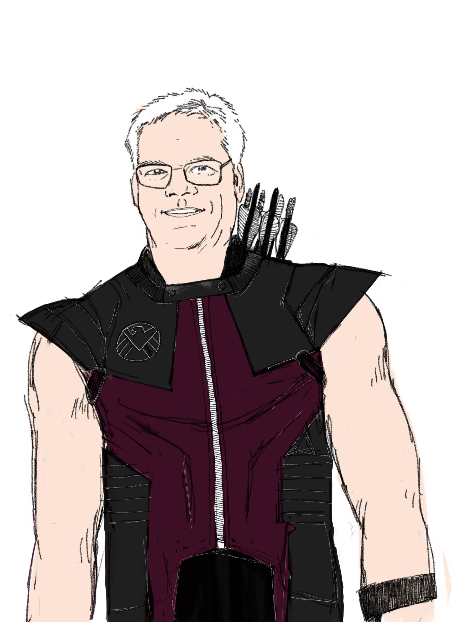 Marvin Dodge as Hawkeye