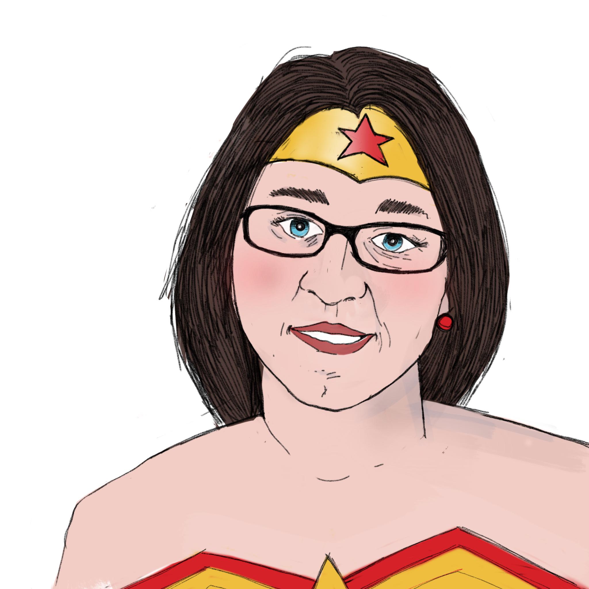 Alisa as Wonder Woman