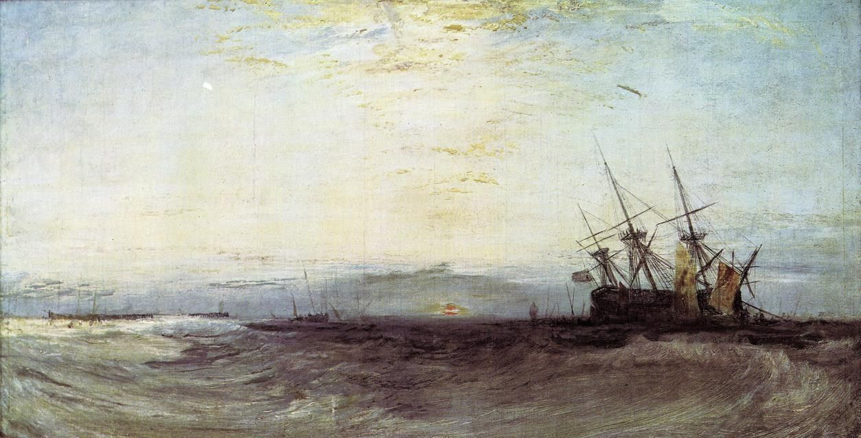 "JMW Turner ""A Ship Aground"" (1828)"