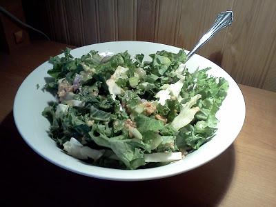 raw kale salad & dressing : wholehearter