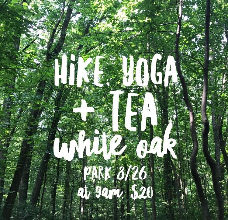 hike yoga and tea