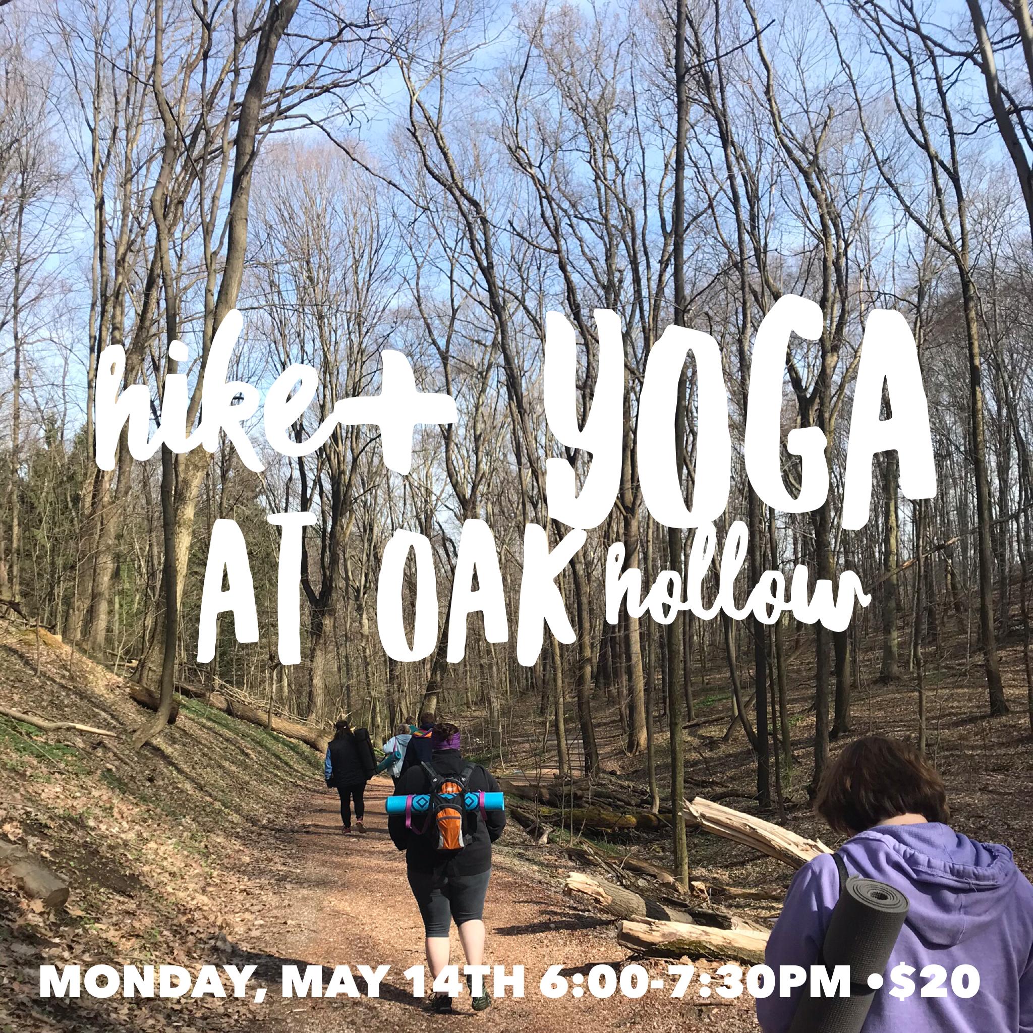Hike & Yoga at Oak Hollow Park in Irwin