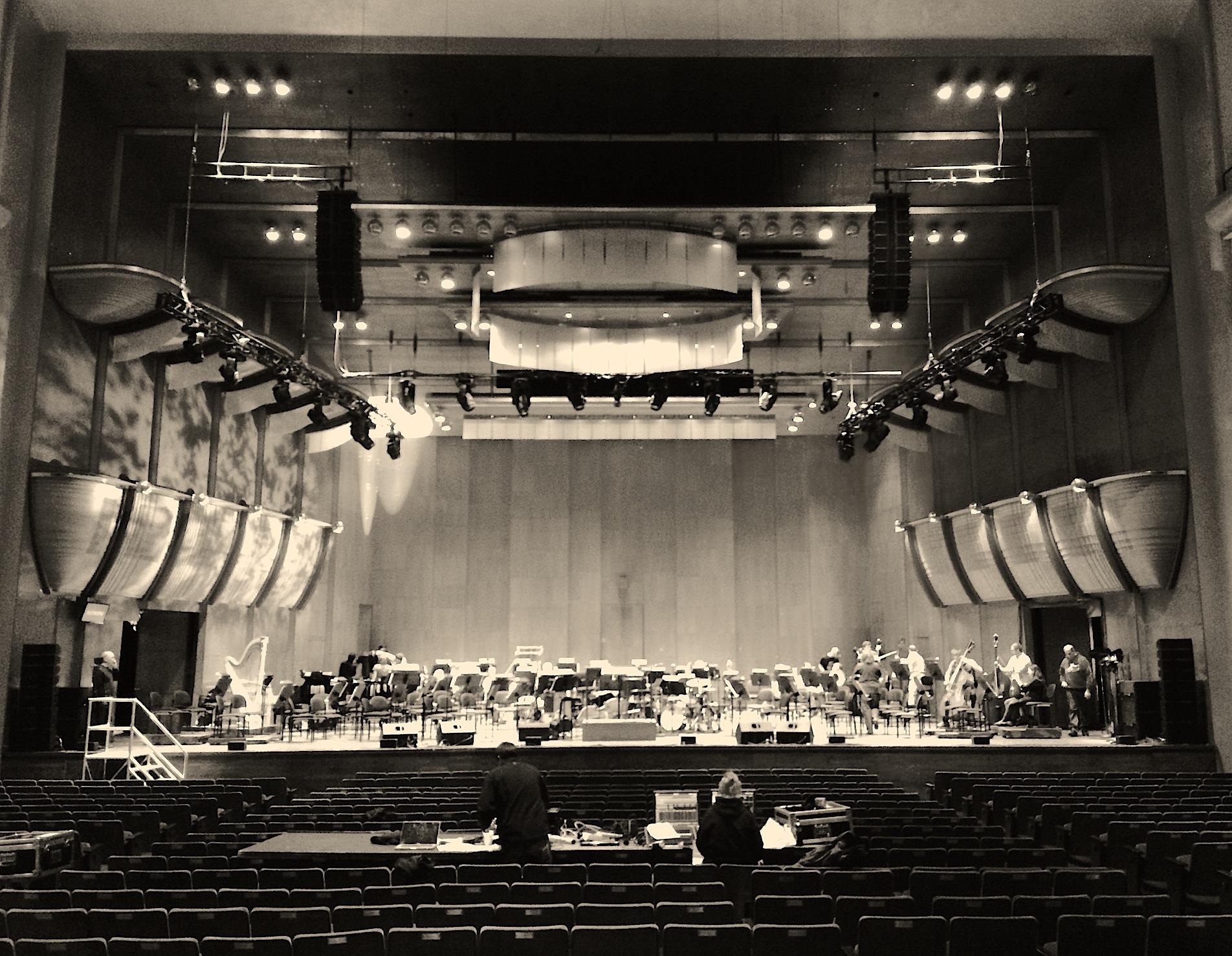 Avery Fisher Hall & tech rehearsal.