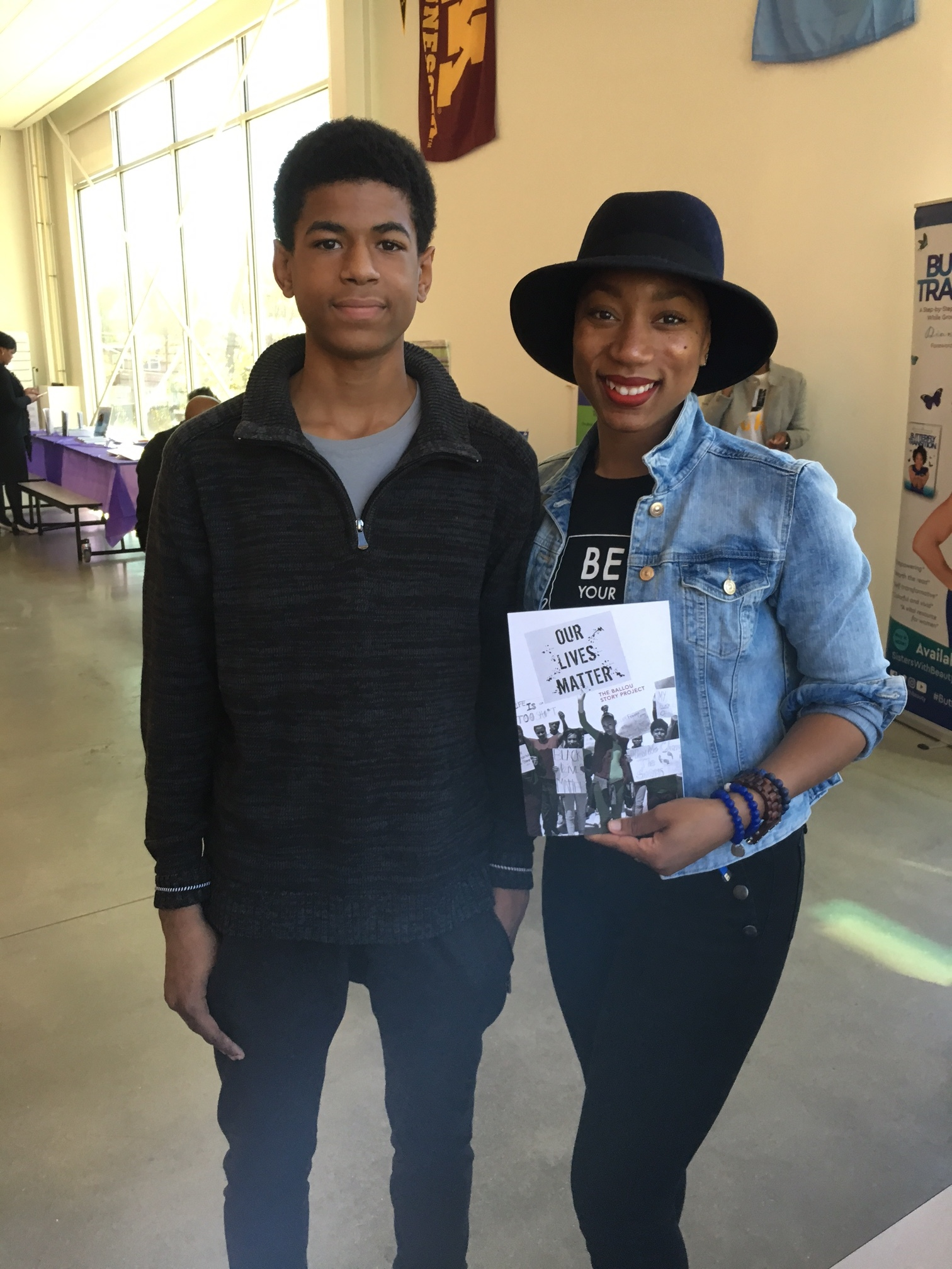 In other  Ballou Story Project  news, three-time author Carl represented at East of the River Book Festival, where all Shout Mouse books were featured for sale.