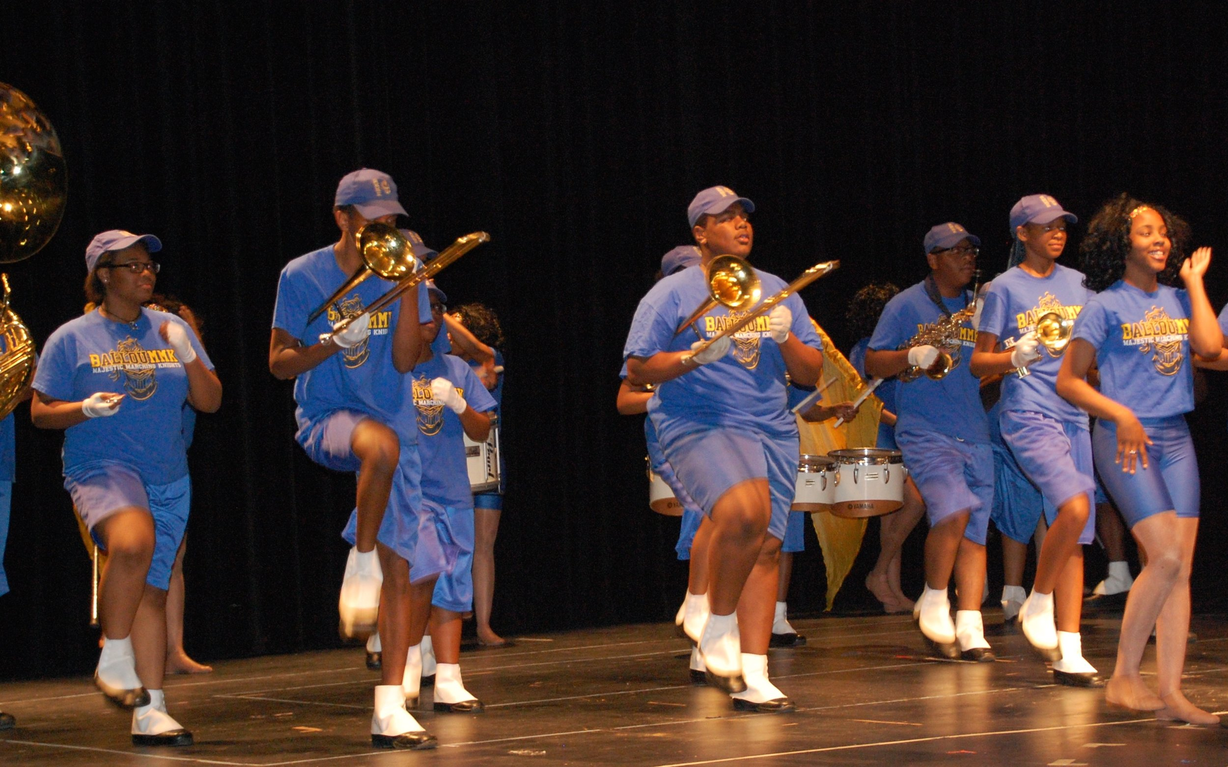 Ballou High School Band kicked off the performance.