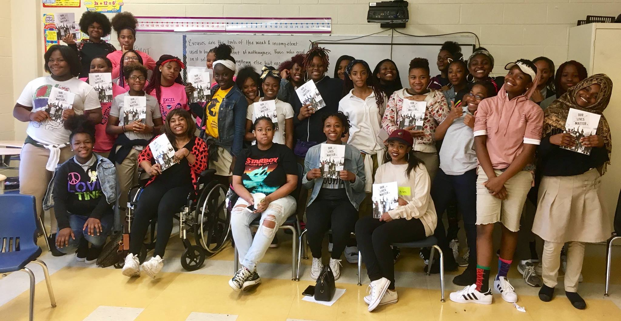 Ballou Story Project writers visited Excel Academy.