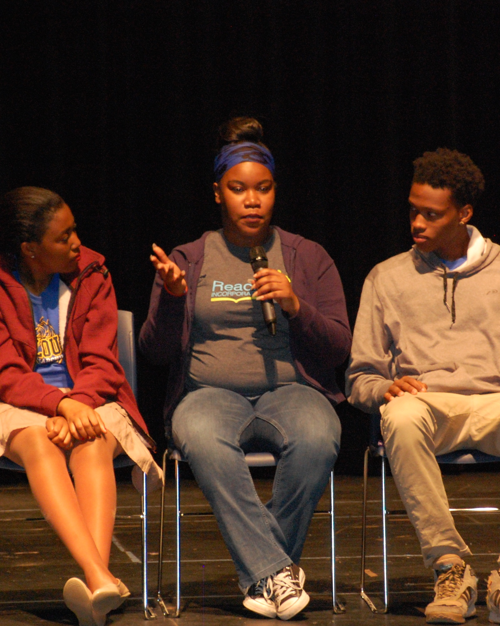 Diane, Darne'sha, and Mario talk about writing for the stage after the show.