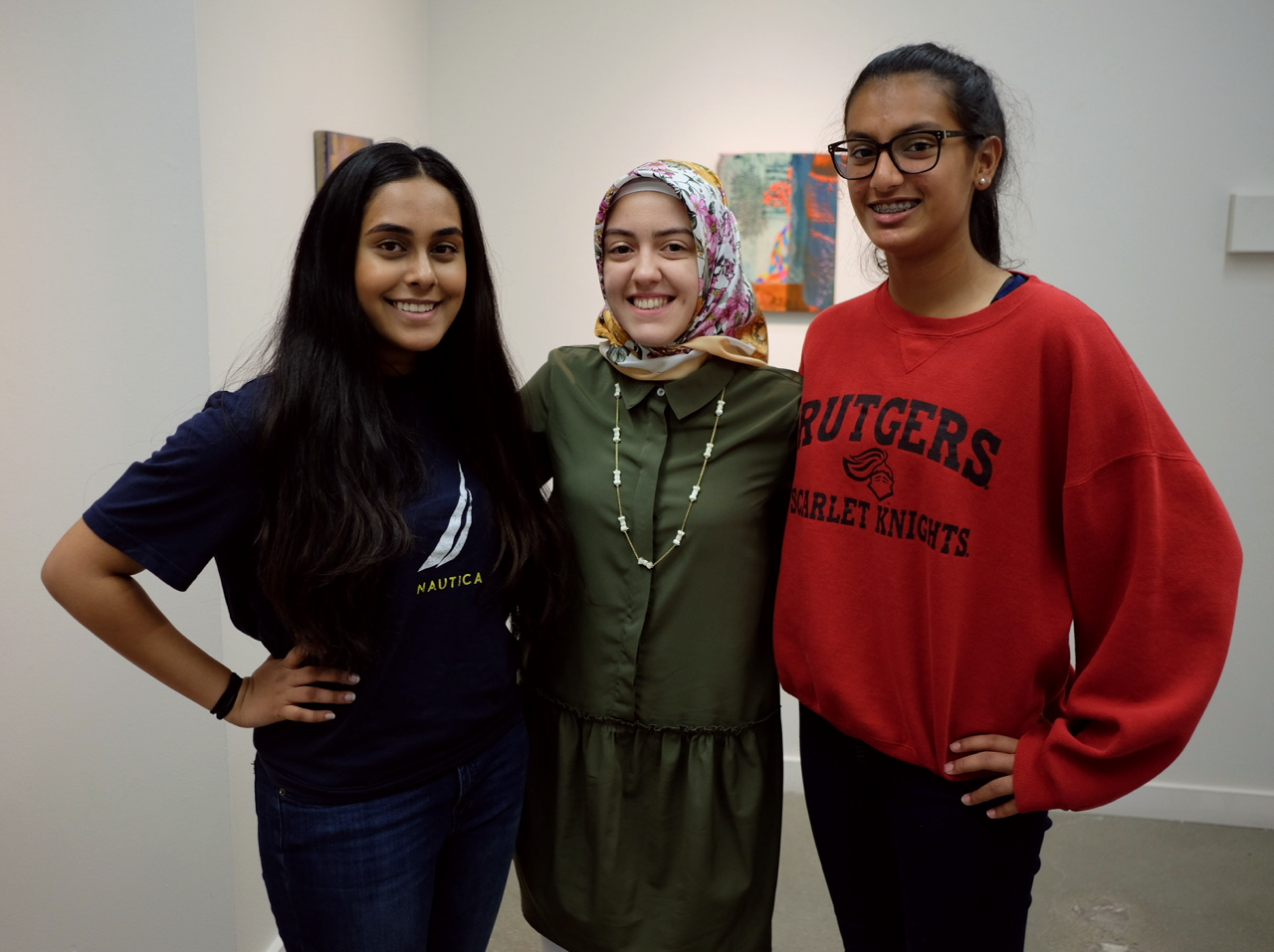 Zeynep (middle) with writers Imaan and Leyla.
