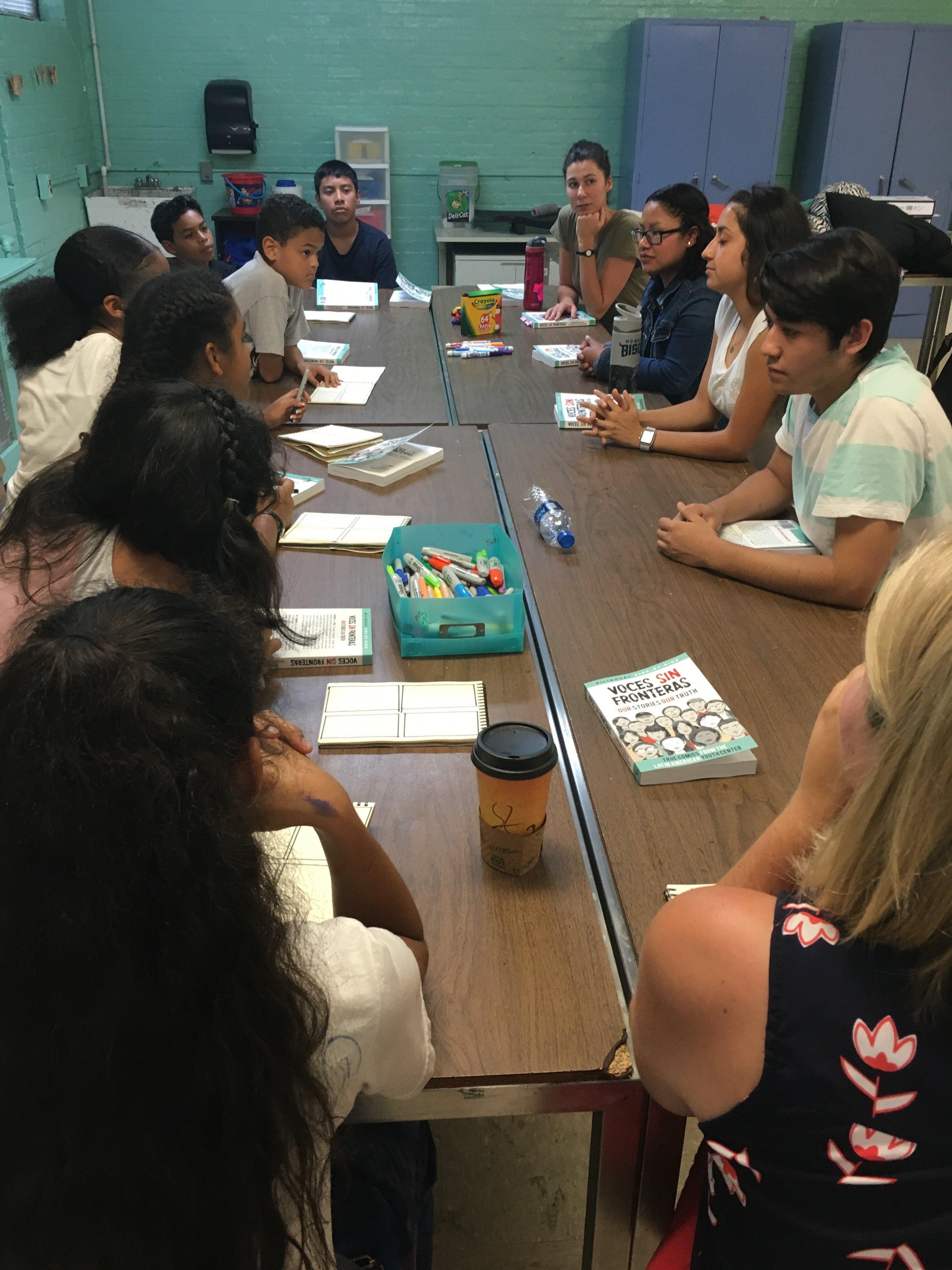 Nuestra Voz Group at Table.JPG