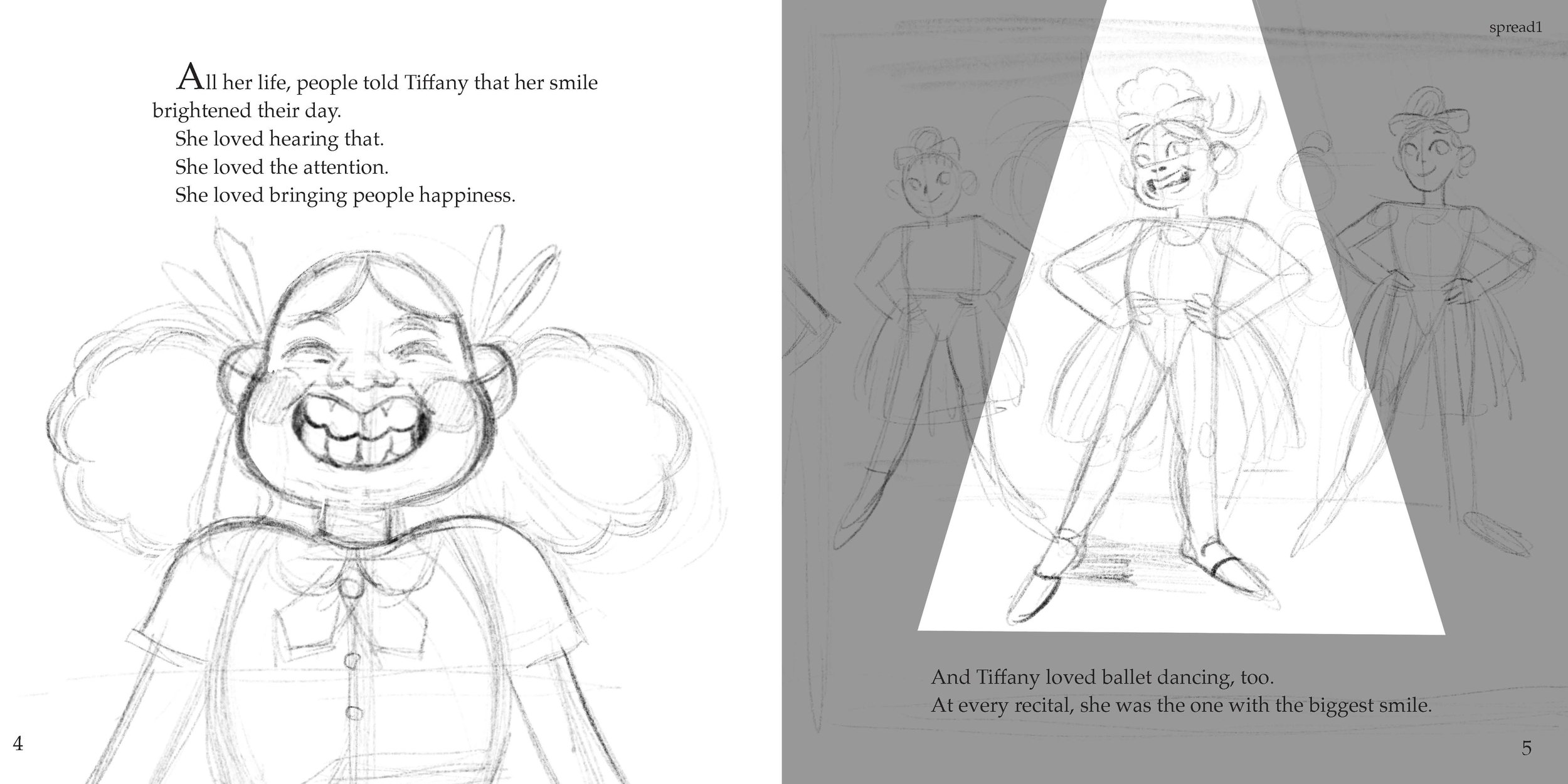 India Valle is illustrating  Tiffany and the Two Missing Teeth  by Doc, Brittany, and Don'naya.