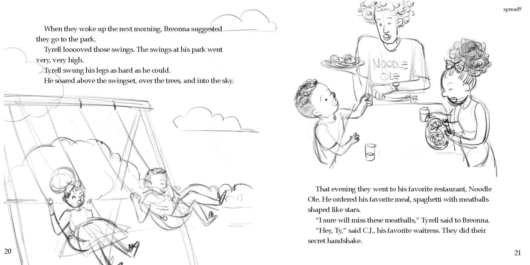 Jiaqi Zhou is illustrating  Tyrell's Big Move  by Temil, Synia, Jada, and Talik.