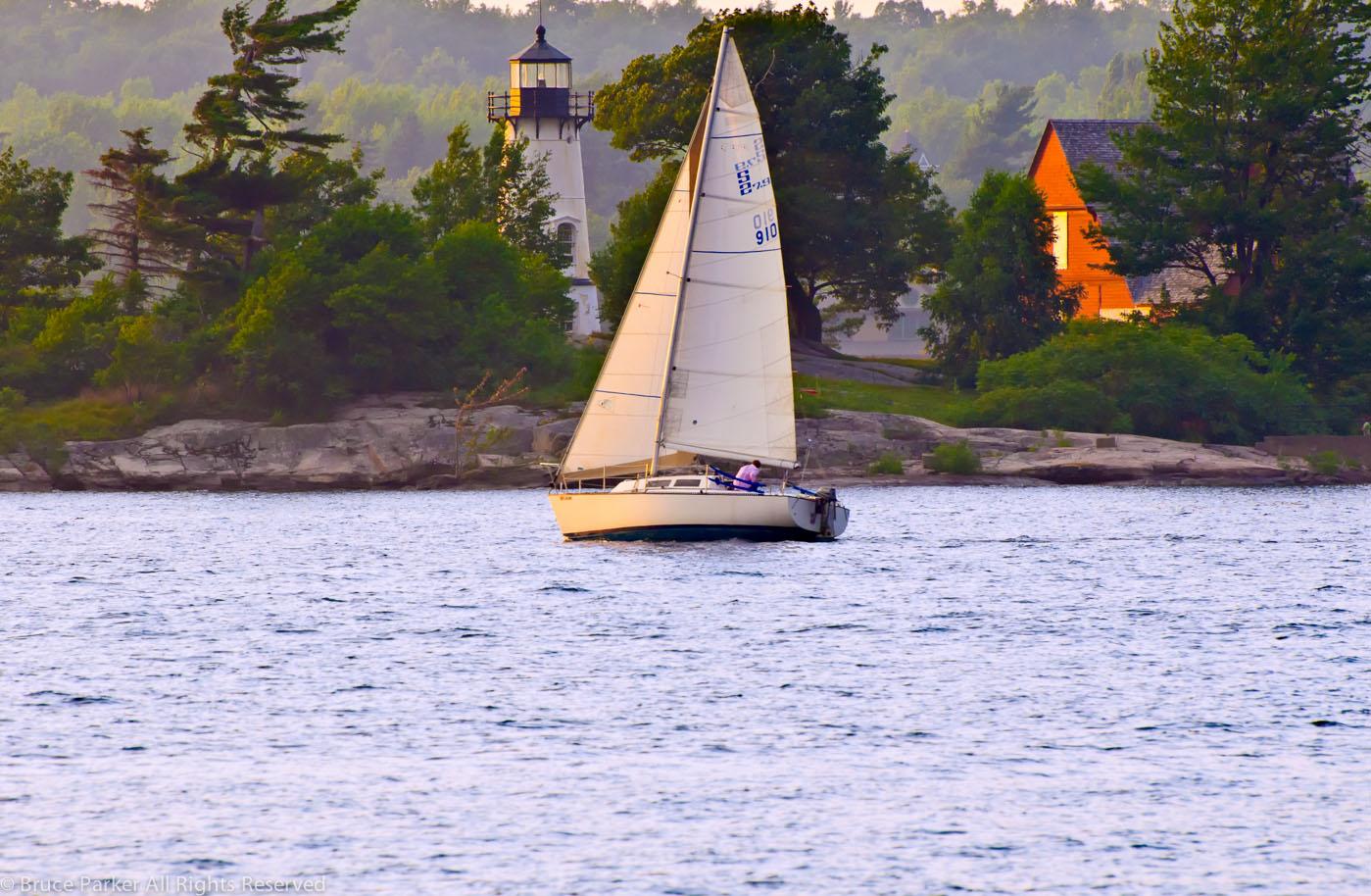 Sailboat at Rock island