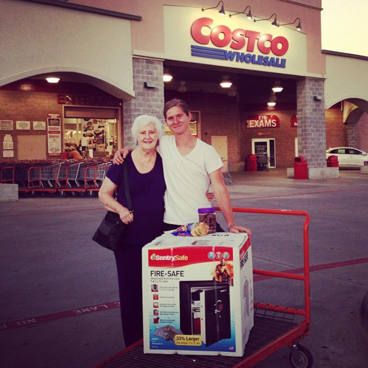 Cissy is addicted to Costco. But she bought me this killer safe there!