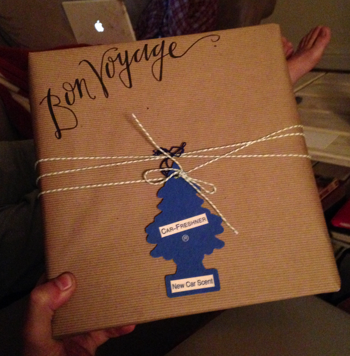 Whitney's hand writing and gift wrapping are on point.