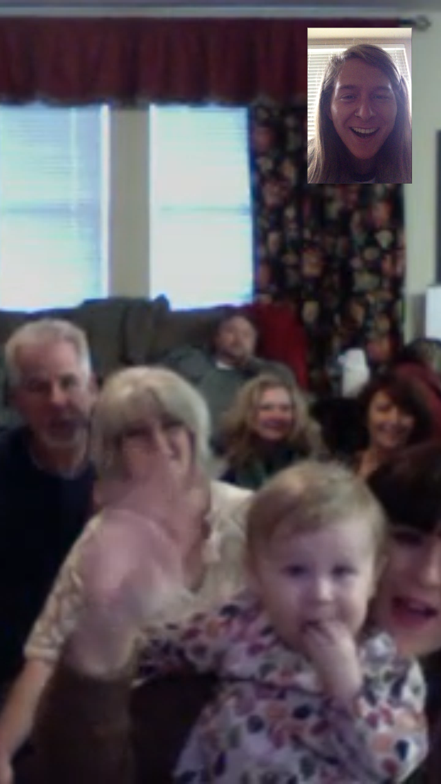 FaceTiming with the family today. So great.