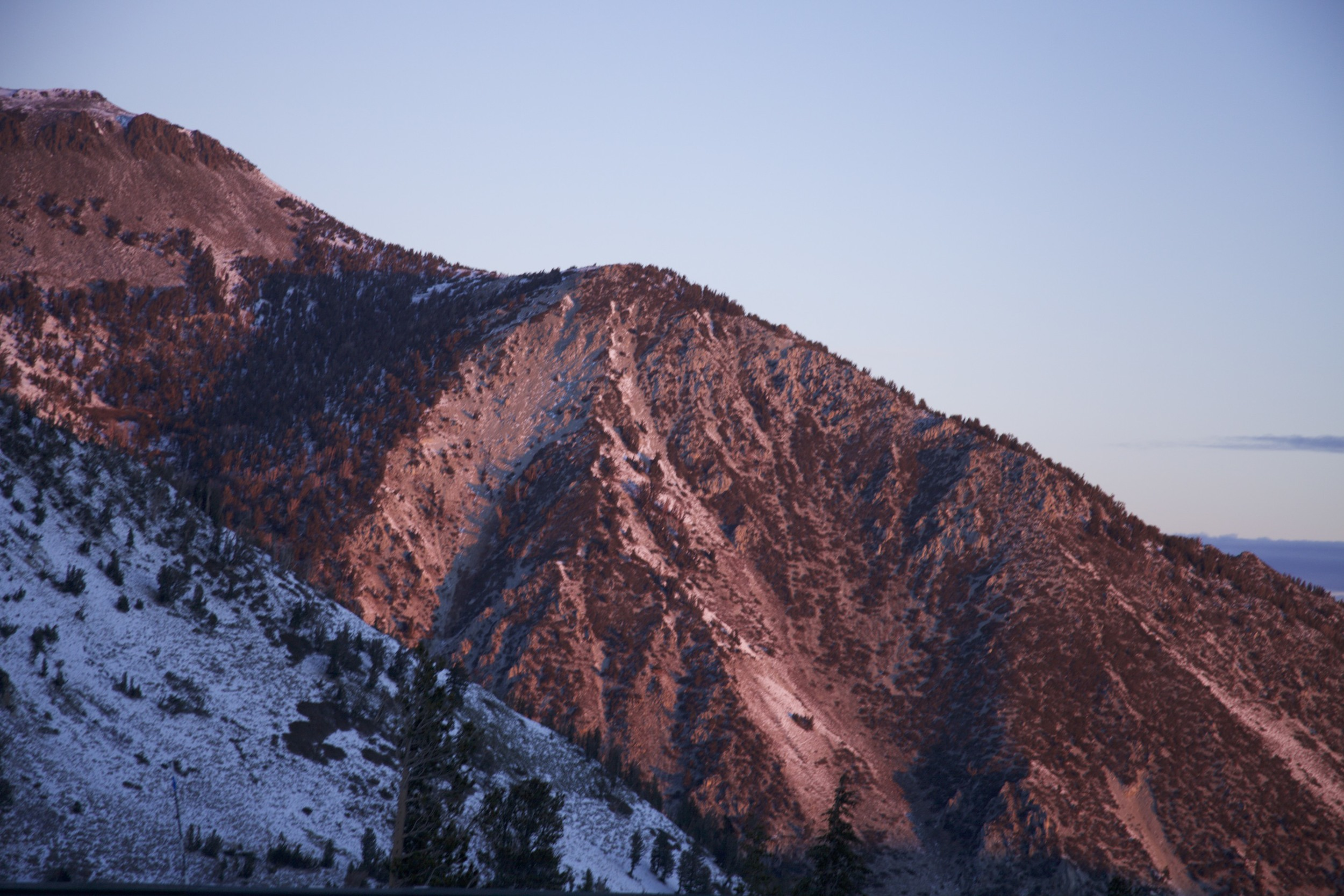 ZERO EDITING! This is how Mount Rose looked at sunrise. So crazy.