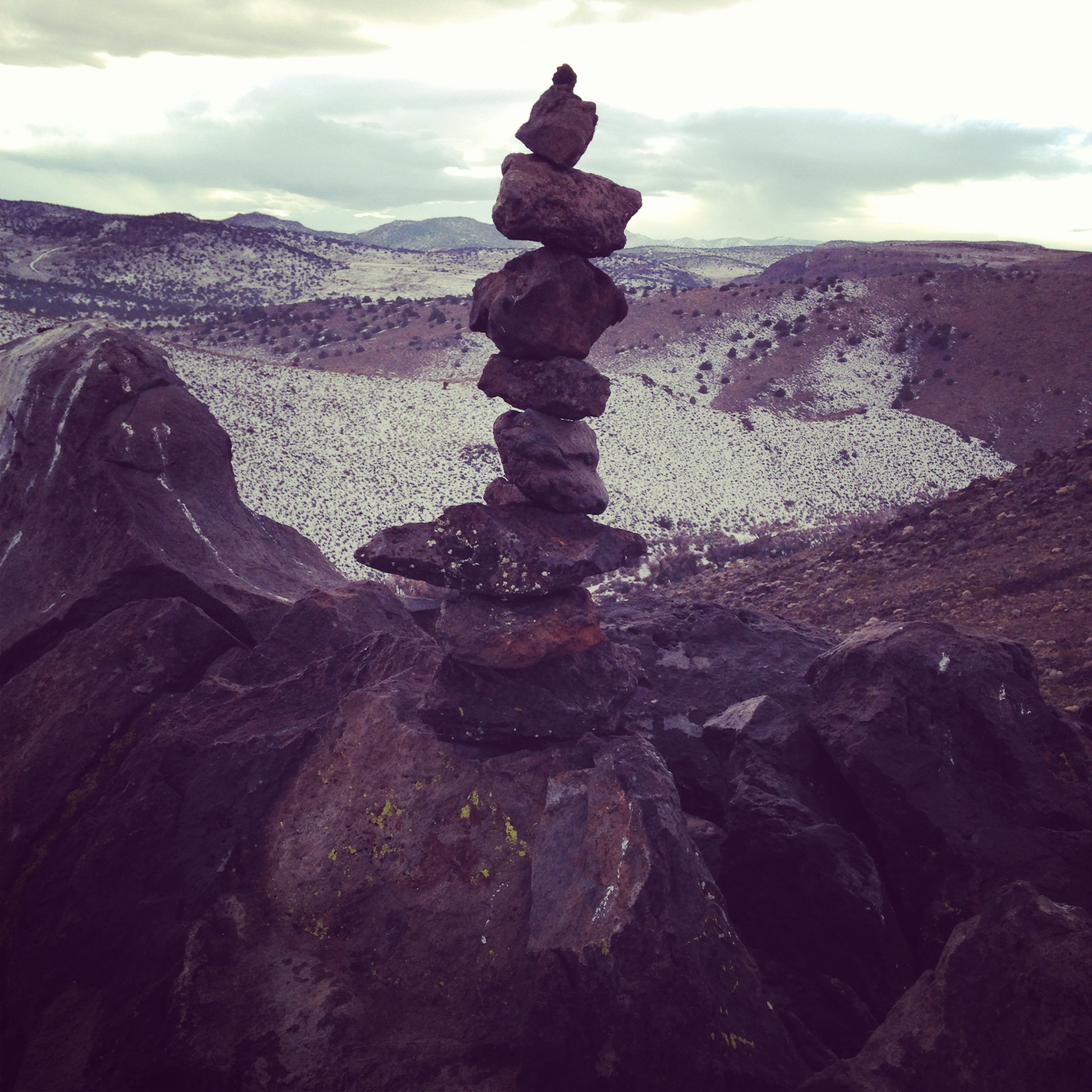 Built my first cairn with Dean at the top.