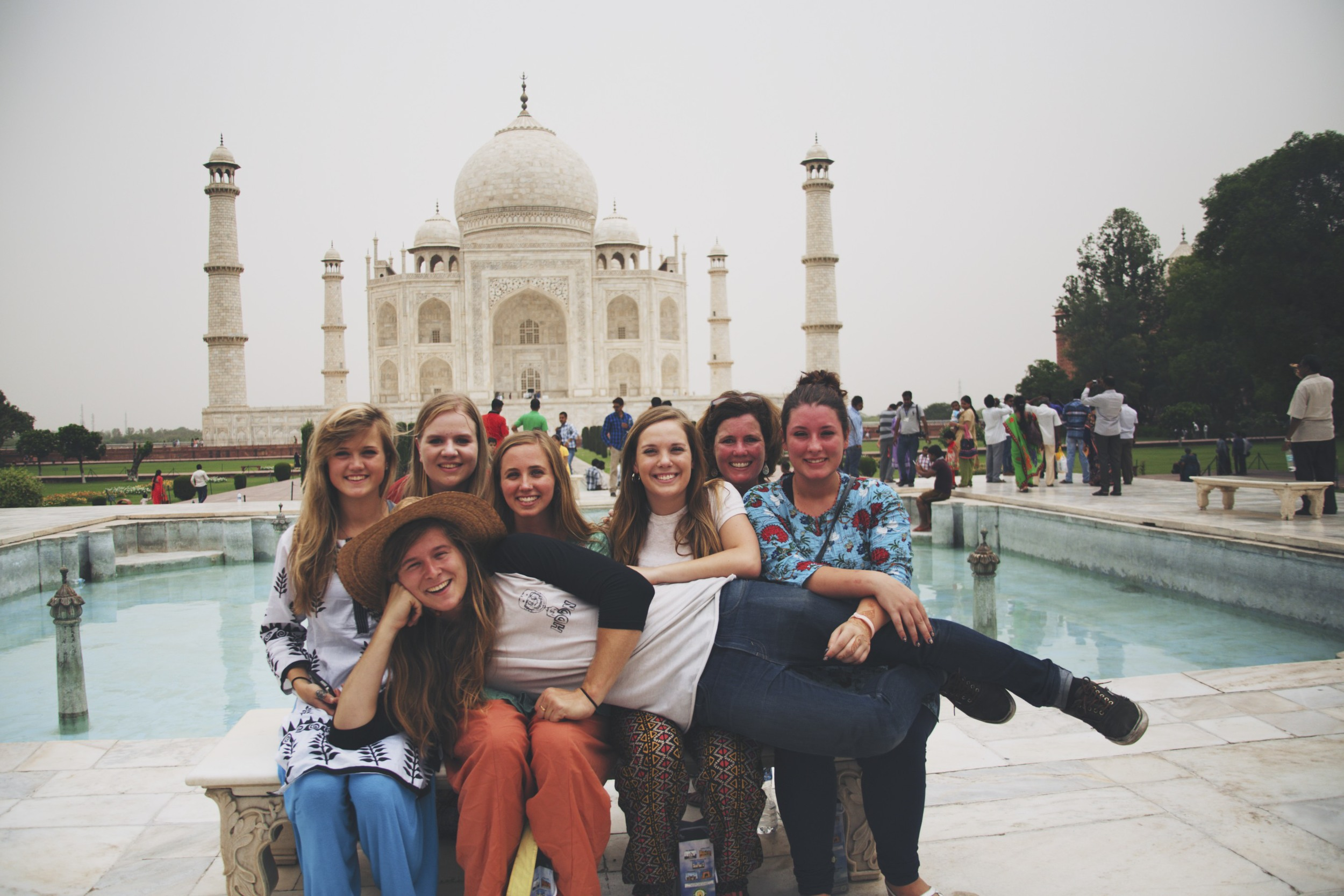 Taj Mahal with all the girls.