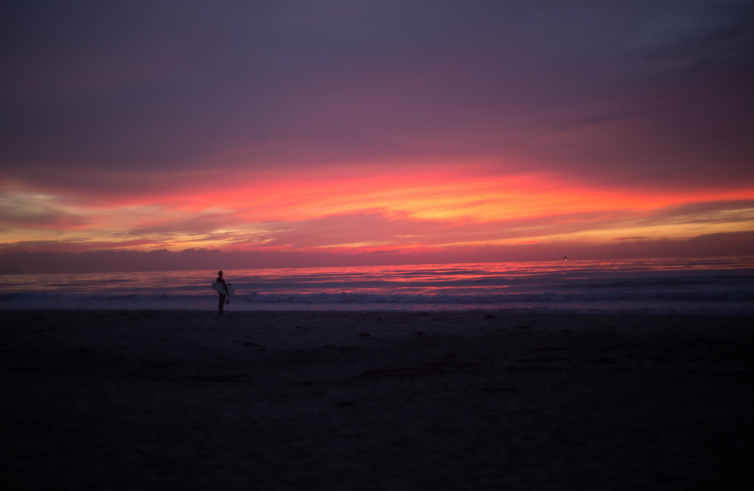 Zero Editing. Imperial Beach Sunsets are unreal.
