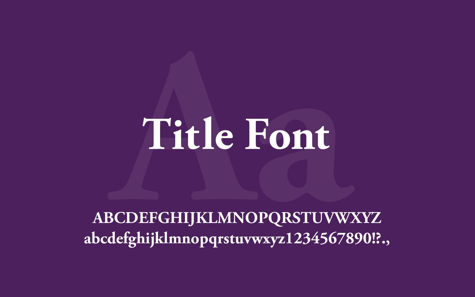 Type Title Font