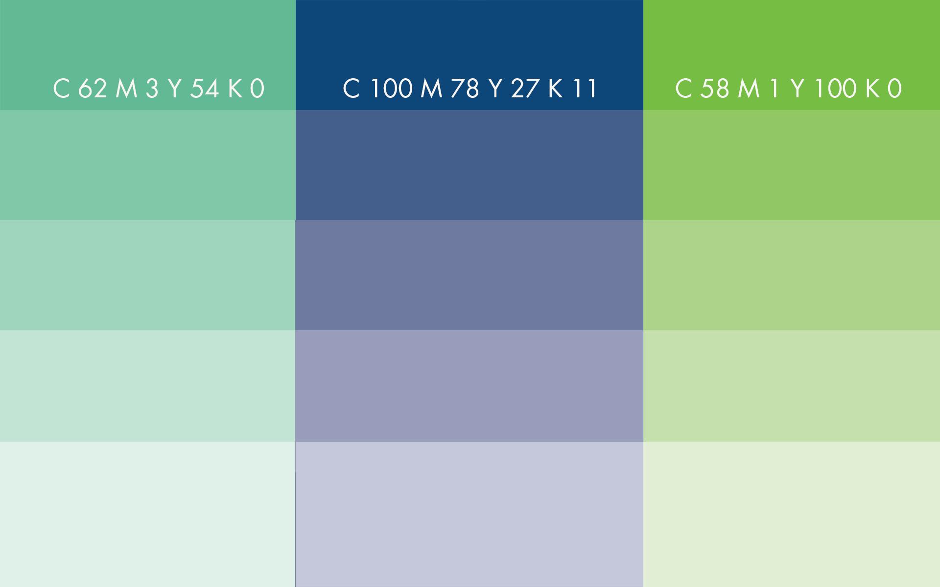 Colour samples CMYK