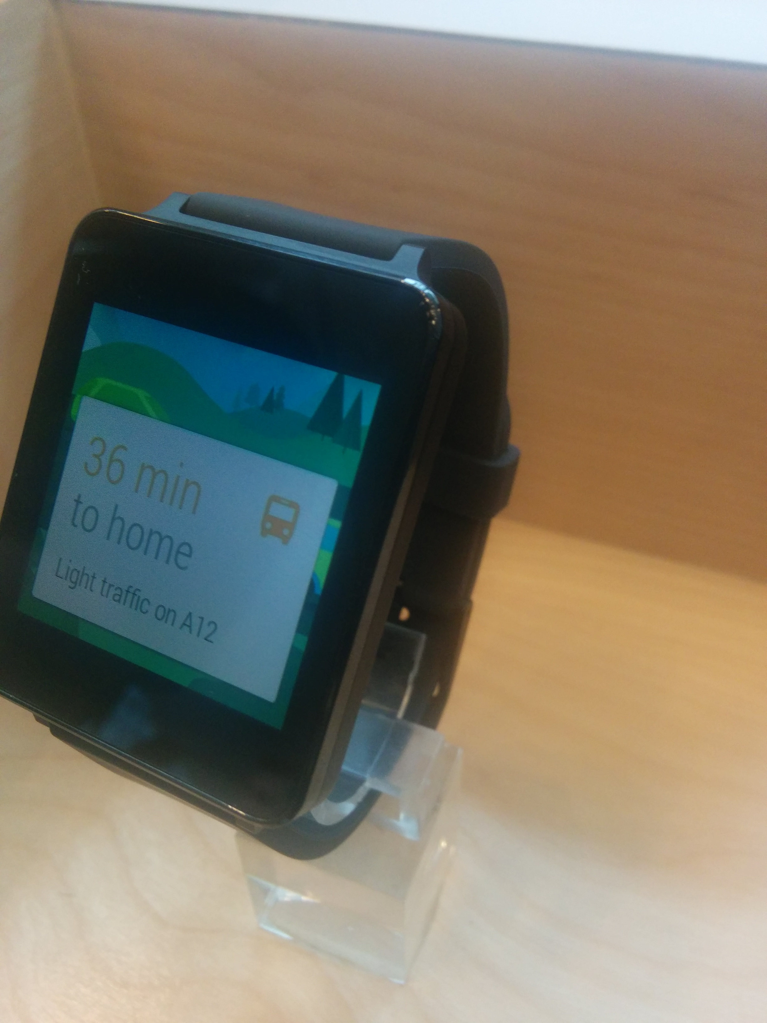 Google gave out Android-enabled smart watches at the conference. PHOTO: Amira Anuar