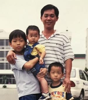 Kingsten's uncle visiting in Vietnam