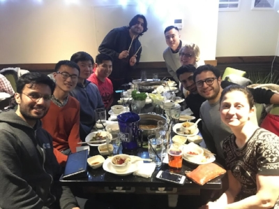 Michelle's cohort mates enjoying a dinner together