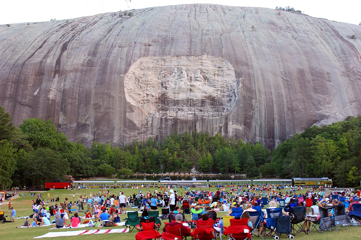 Stone Mountain, Georgia.  Photo courtesy of Wikipedia.