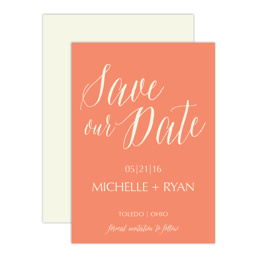 Lettered Save the Date