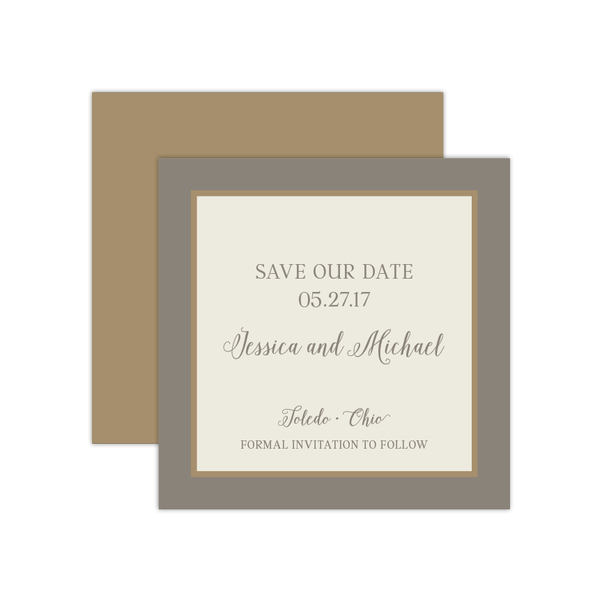 Marbled Save the Date