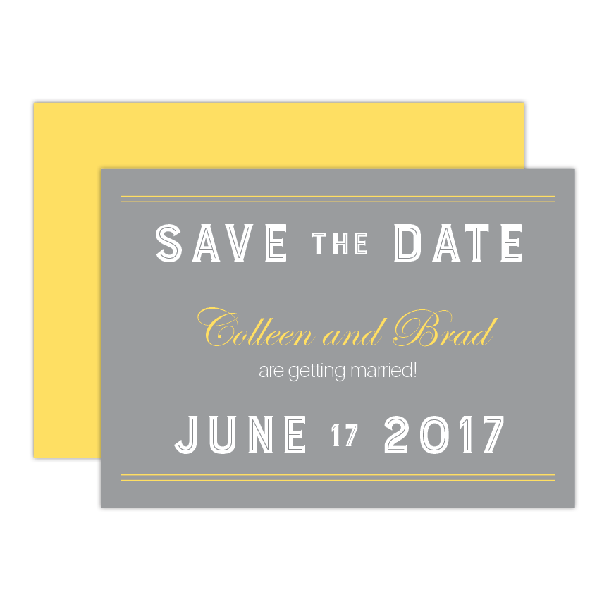 Modern Flair Save the Date