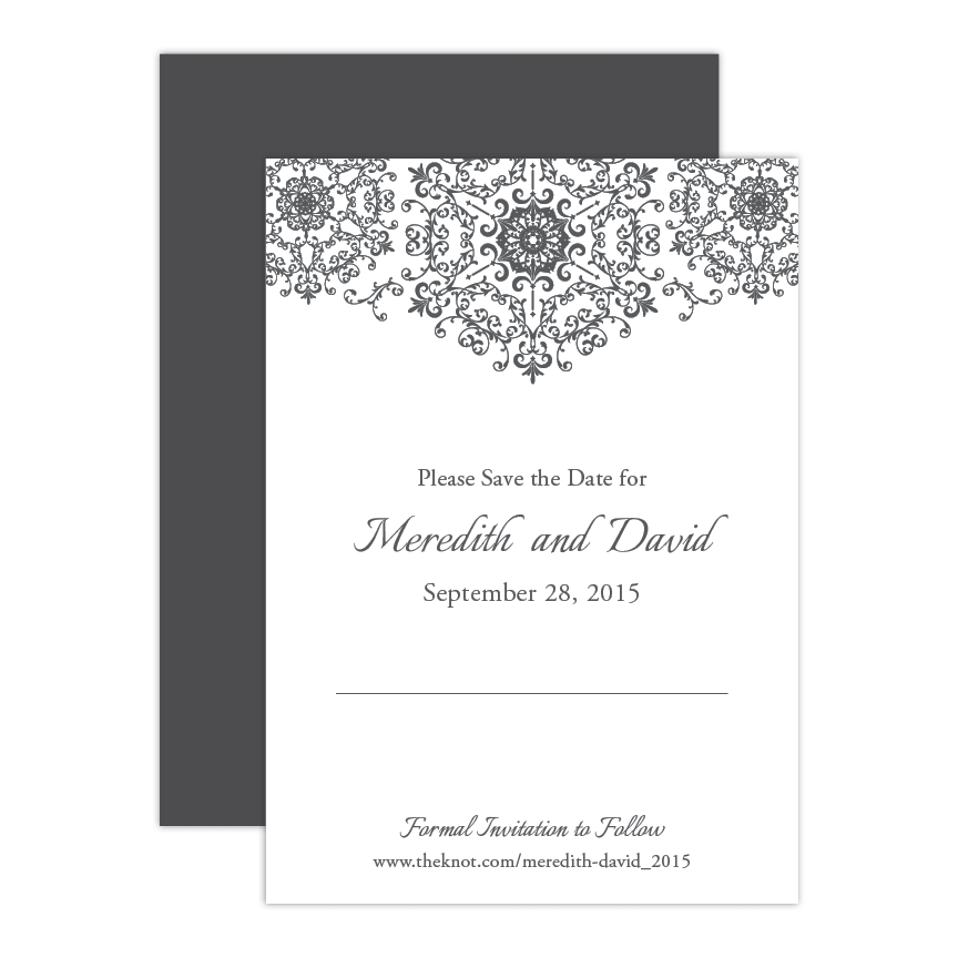 Modern Glamour Save the Date