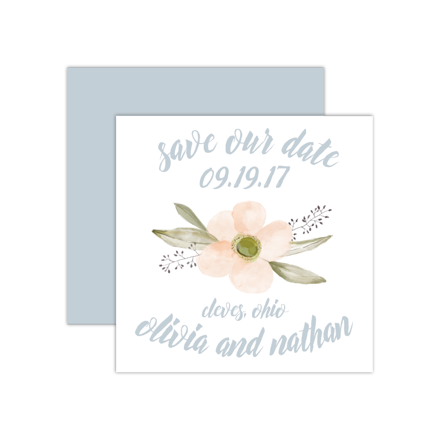 Watercolor Blooms Save the Date