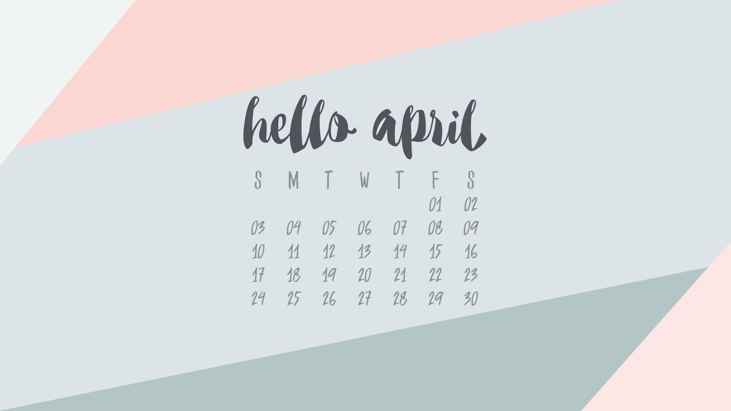 UpperCase Designs April Desktop Calendar Wallpaper