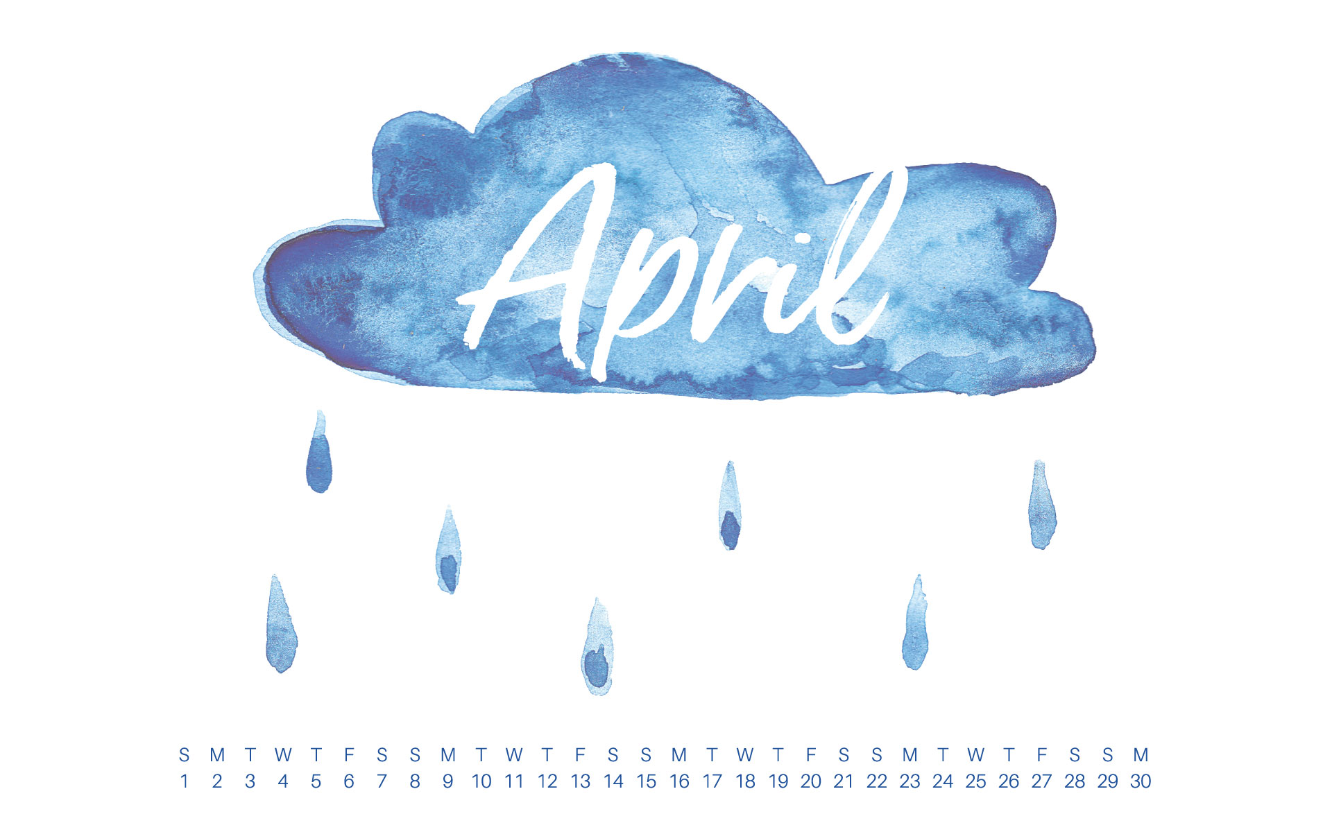 Uppercase Designs April 2018 Desktop Calendar Wallpaper