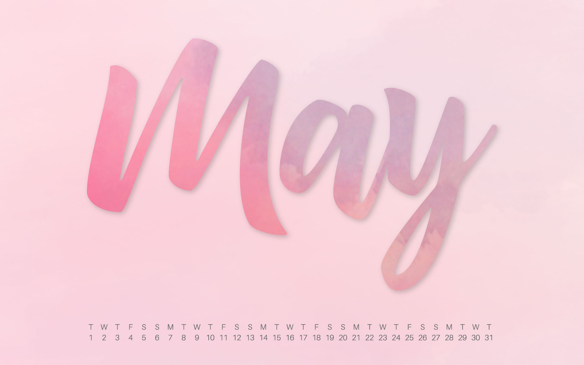 Uppercase Designs May 2018 Desktop Calendar Wallpaper