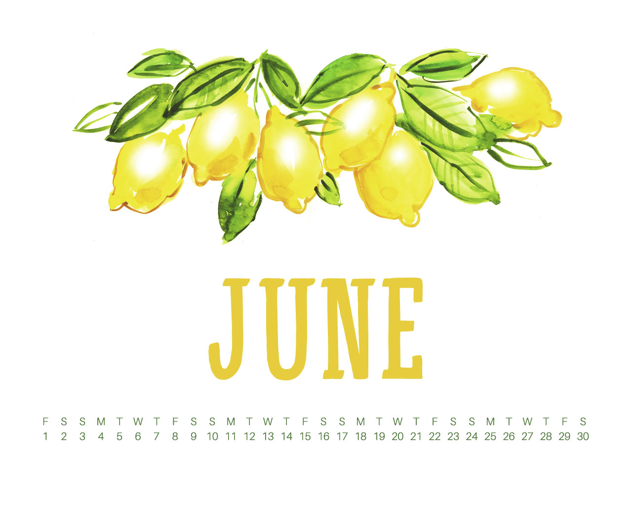 Uppercase Designs June 2018 Desktop Calendar Wallpaper