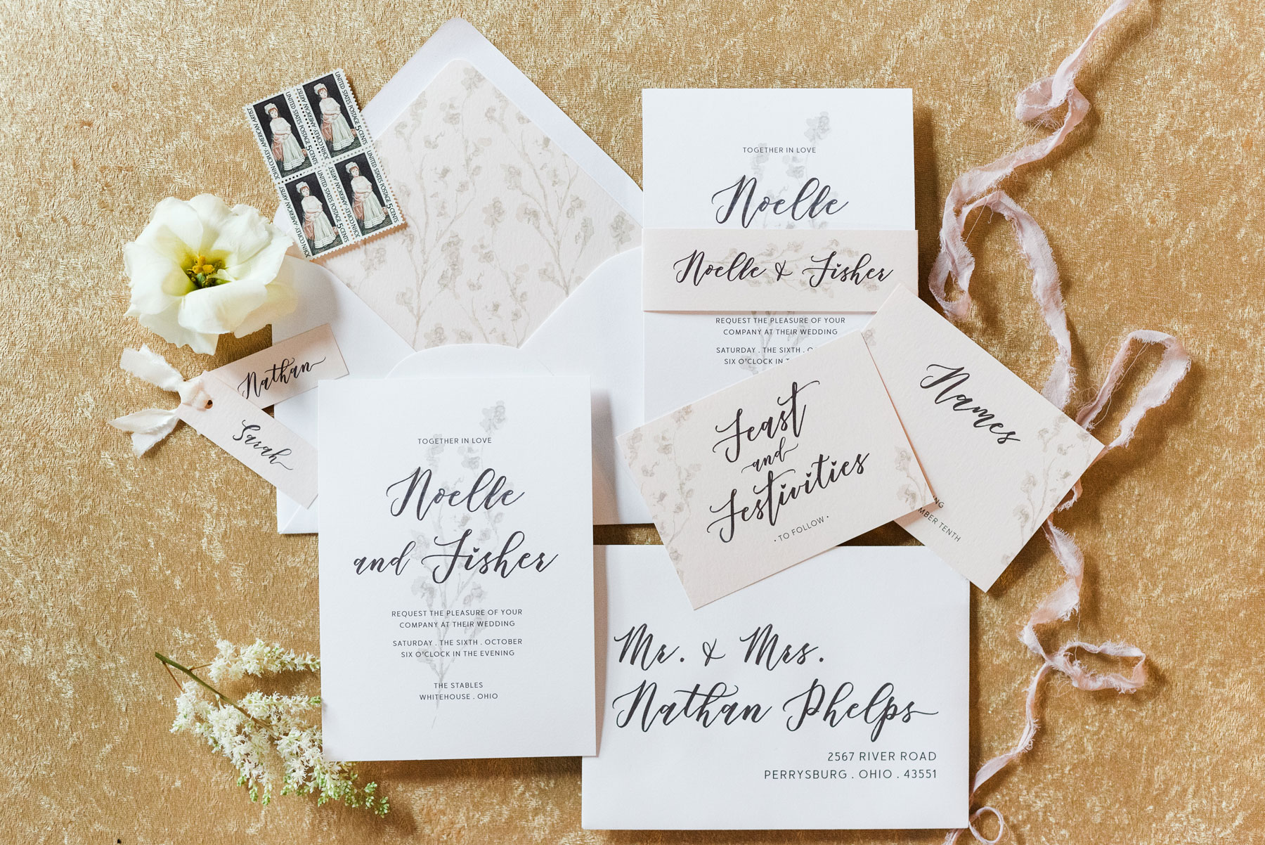 Dress Up Your Wedding Invitations // Uppercase Designs