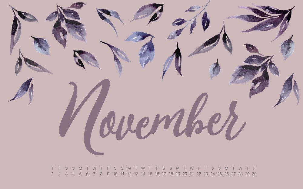 November 2018 Desktop And Mobile Calendar Wallpaper