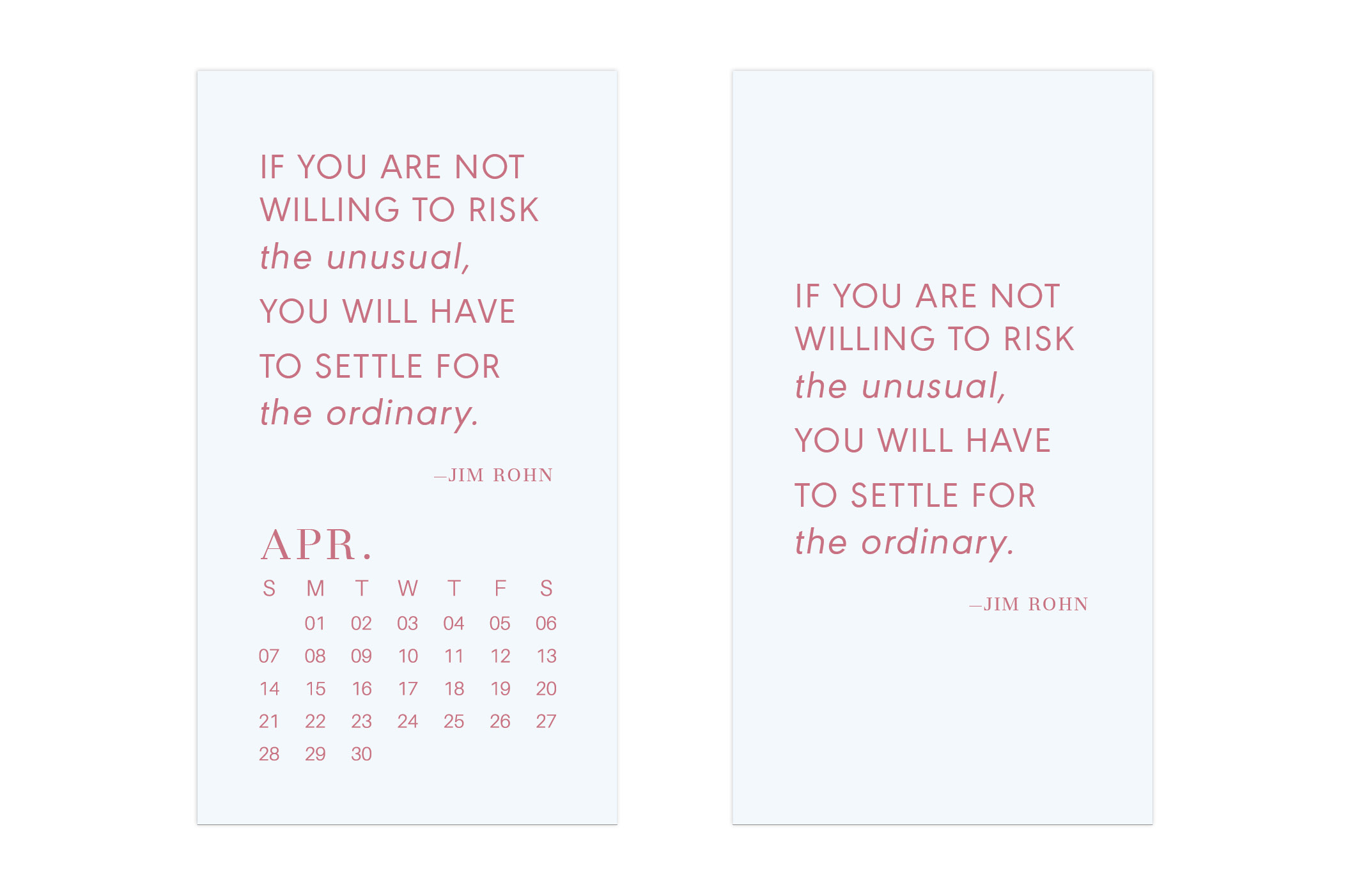 April 2019 Wallpaper Calendar Mobile // Uppercase Designs