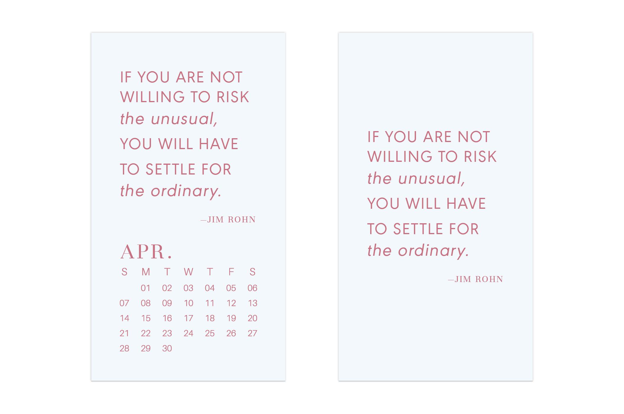 April 2019 Wallpaper Calendar Mobile // Uppercase Designs
