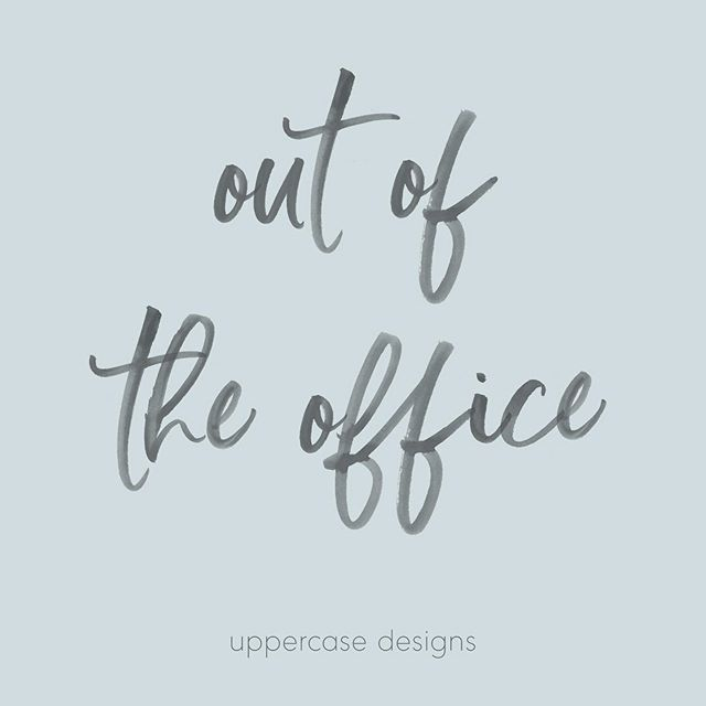 Hi friends! Sending a quick message that I'll be out of the office next week. Any inquiries or emails will be responded to on Monday the 7th. Thanks!